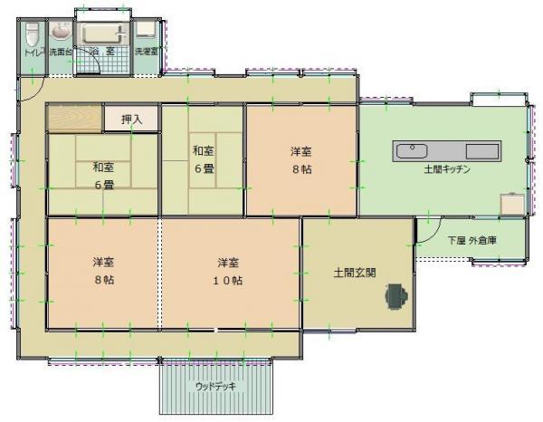 『お試し住宅「haneyasume」間取り』の画像
